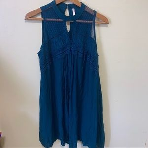Xhilaration Blue Flowy Dress